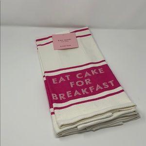 Kate Spade diner stripe two pack kitchen towel set
